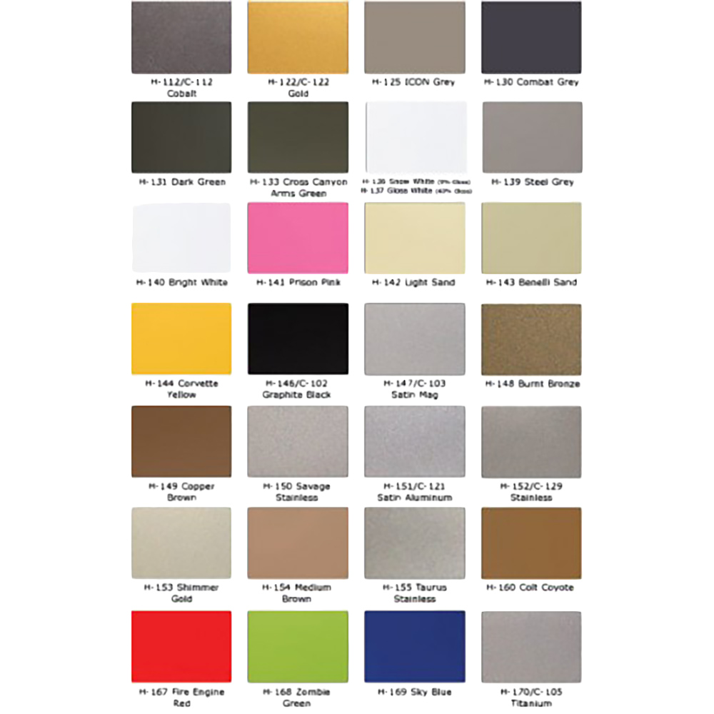 Cerakote Color Chart 28 Images Duracoat Color Chart