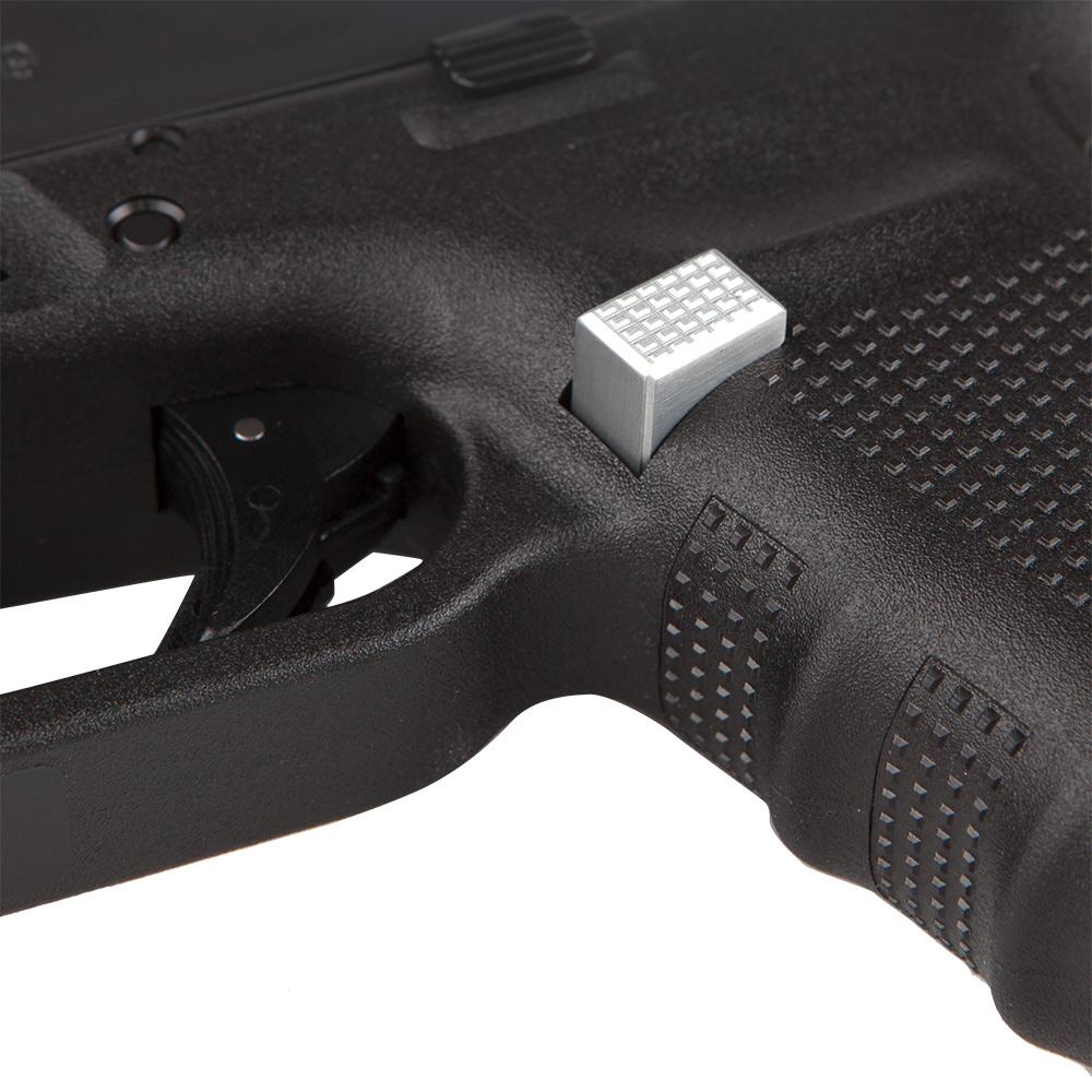 Gen4/Gen5 Checkered Extended Mag Catch | Best Glock