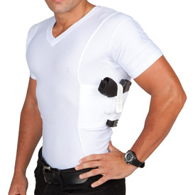 bcea00f53c6718 Mens Concealed Carry Coolux Mesh V-Neck Tee
