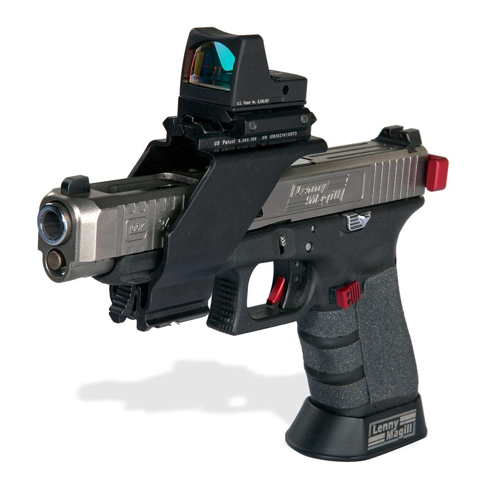 Picatinny flat top rail for handguns. Universal Pistol Sight Mount